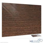 Glass Series Ambience Dark Wood 90x120 cm