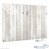 Glass Series Ambience Light Wooden Fence 45x60 cm