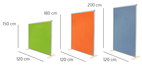 Division wall sizes